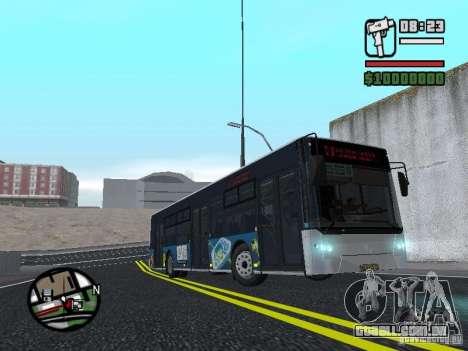 CityLAZ 12 LF para GTA San Andreas vista traseira