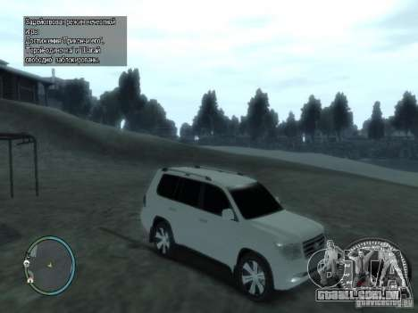 Toyota Land Cruiser 200 FINAL para GTA 4 vista lateral