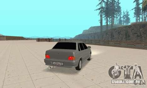 TUN VAZ 2115 para GTA San Andreas esquerda vista