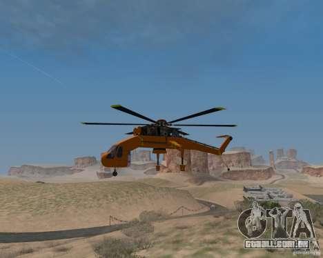 Skylift para GTA San Andreas vista direita