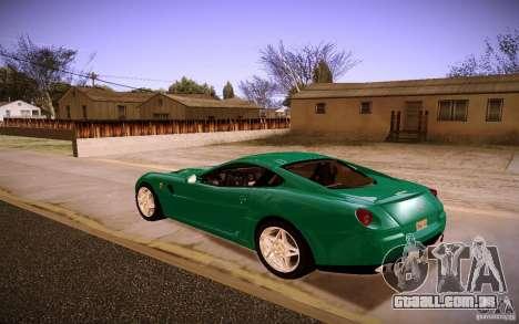 Ferrari 599 GTB Fiorano 2010 para GTA San Andreas vista direita