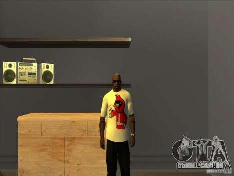 Omsk pássaros, t-shirt para GTA San Andreas terceira tela