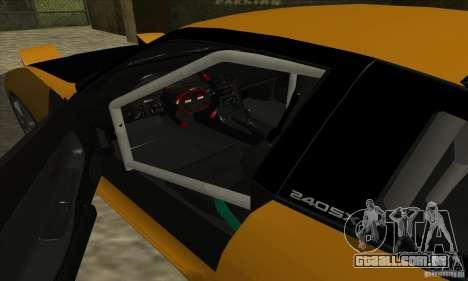 Nissan 240SX Drift Tuning para GTA San Andreas vista direita
