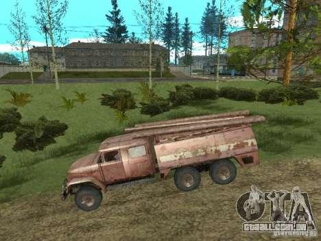 ZIL 131 para GTA San Andreas traseira esquerda vista