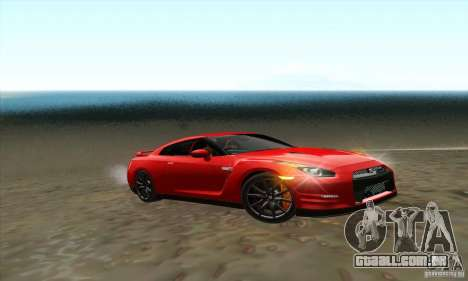 Nissan GT-R R-35 2012 para GTA San Andreas vista direita