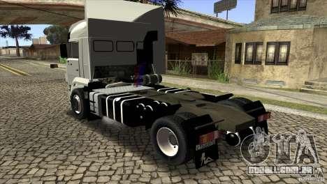 KAMAZ 5460 3420 Euro Turbo para GTA San Andreas traseira esquerda vista