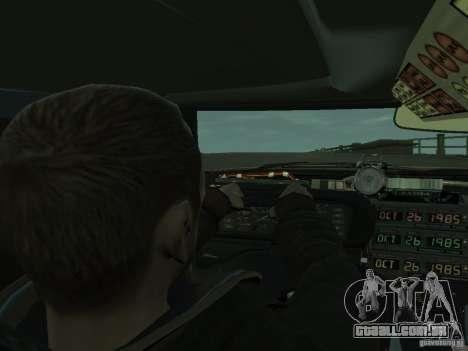 DeLorean BTTF 2 para GTA 4 vista de volta