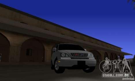 Lexus RX300 para GTA San Andreas vista traseira