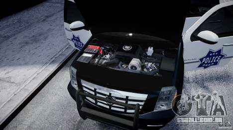 Cadillac Escalade Police V2.0 Final para GTA 4 vista interior