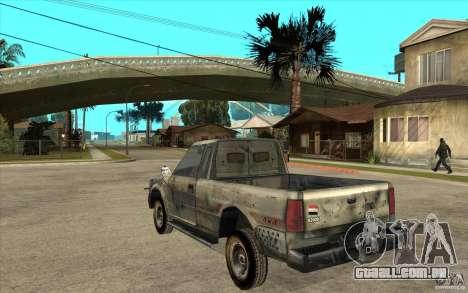 Rusty Mazda Pickup para GTA San Andreas traseira esquerda vista