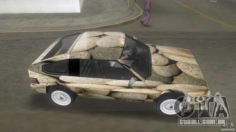Blista rock stone stock para GTA Vice City vista traseira esquerda