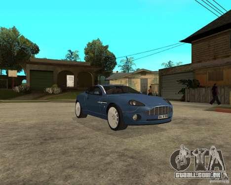 Aston Martin Vanquish para GTA San Andreas vista traseira