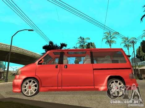VW T4 Eurovan VR6 BiTurbo 20T para GTA San Andreas esquerda vista