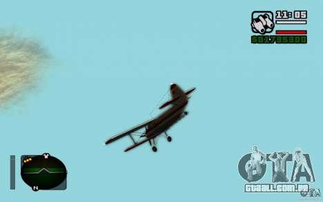 Antonov an-2 para GTA San Andreas vista direita