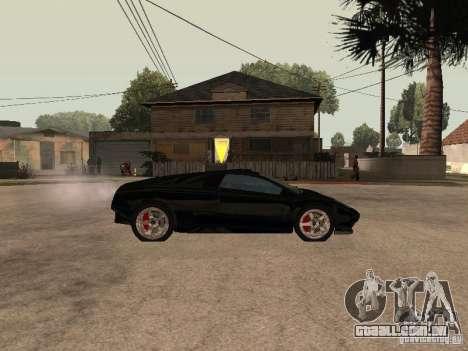 GTA4 Infernus para GTA San Andreas esquerda vista