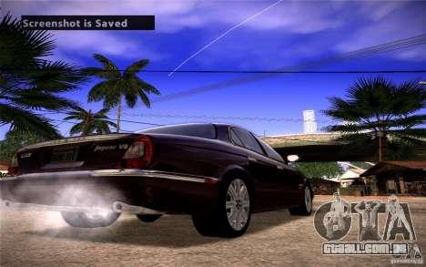 Jaguar Xj8 para GTA San Andreas traseira esquerda vista