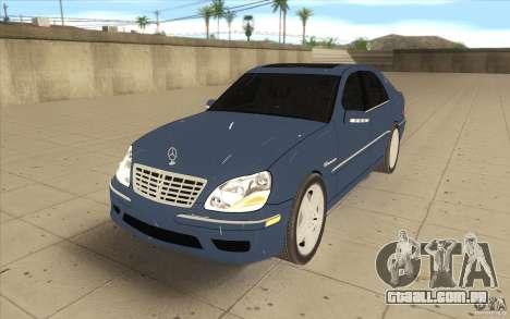 Mercedes-Benz S-Klasse para GTA San Andreas