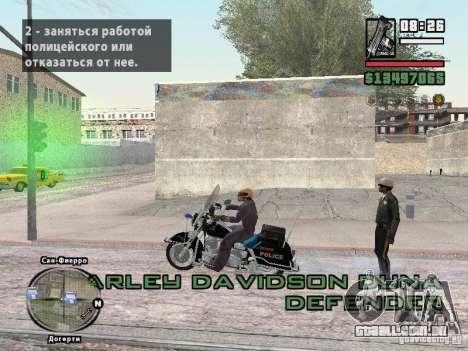 Helmet mod para GTA San Andreas terceira tela