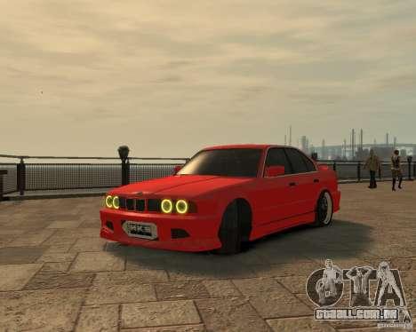 Bmw 535i (E34) tuning para GTA 4 vista direita