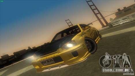 Subaru Impreza WRX No Fear para GTA San Andreas