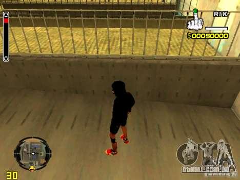 Pele vagabundo v7 para GTA San Andreas terceira tela