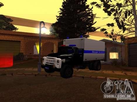 ZIL 130 polícia para GTA San Andreas esquerda vista
