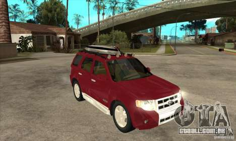 Ford Escape 2009 para GTA San Andreas vista traseira