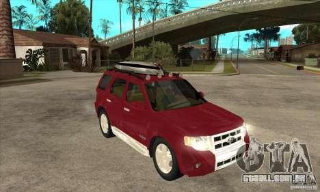 Ford Escape 2009 para GTA San Andreas vista traseira