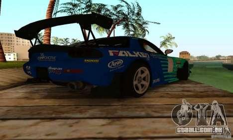 Mazda RX7 Falken edition para GTA San Andreas vista direita