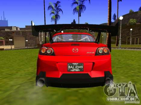 Mazda RX-8 R3 Tuned 2011 para GTA San Andreas vista traseira