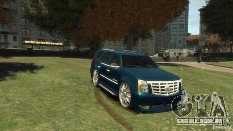 Cadillac Escalade Dub para GTA 4 vista de volta