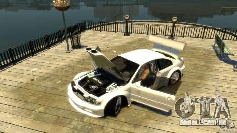 BMW E46 M3 GTR Sport para GTA 4 vista de volta