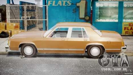 Ford Crown Victoria 1983 para GTA 4 vista lateral