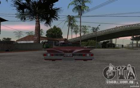 Chevrolet Impala 1960 para GTA San Andreas traseira esquerda vista