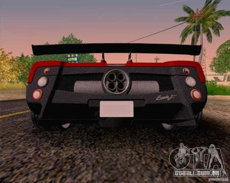 Pagani Zonda F v2 para GTA San Andreas vista direita