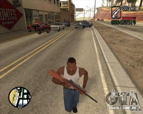 Endorphin Mod v.3 para GTA San Andreas por diante tela