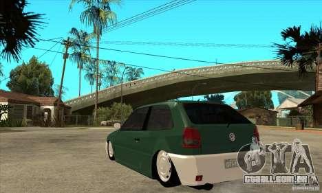 Volkswagen Gol v1 para GTA San Andreas traseira esquerda vista