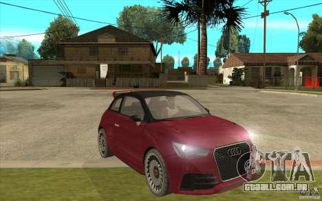 Audi A1 Clubsport Quattro para GTA San Andreas vista traseira