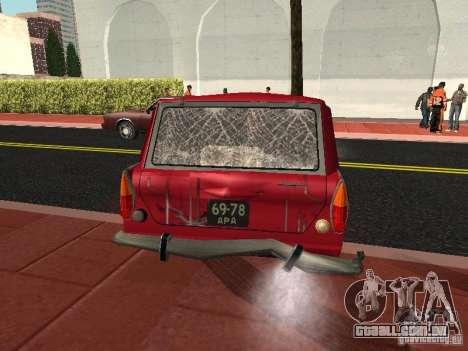 Moskvich 434 para vista lateral GTA San Andreas
