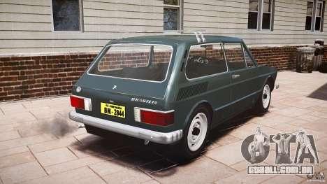 Volkswagen Brasilia para GTA 4 traseira esquerda vista