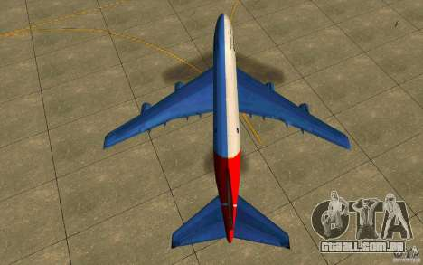 Boeing Qantas 747-400 para GTA San Andreas vista direita