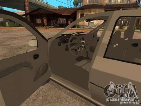 Dacia Logan 1.6 para GTA San Andreas vista superior