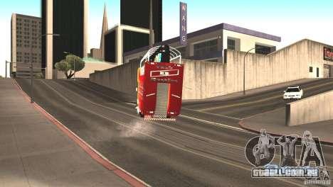 Scania 93H 6x2 Trio Eletrico para GTA San Andreas vista traseira