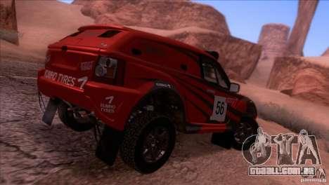 Range Rover Bowler Nemesis para GTA San Andreas traseira esquerda vista