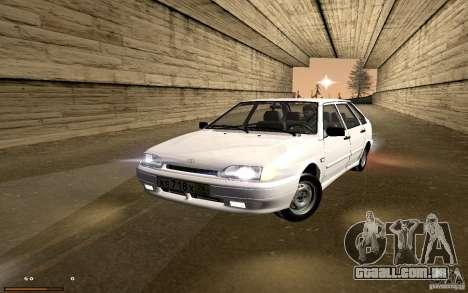 ВАЗ 2114 qualidade para GTA San Andreas vista traseira
