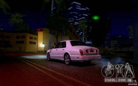 Bentley Arnage para GTA San Andreas vista inferior