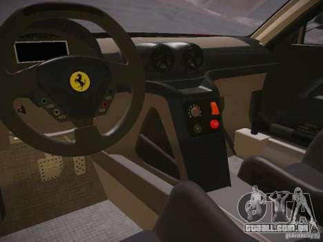 Ferrari 599XX para GTA San Andreas vista traseira