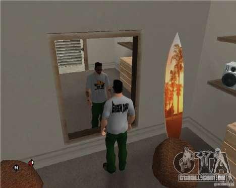 Dia verde t-shirt para GTA San Andreas