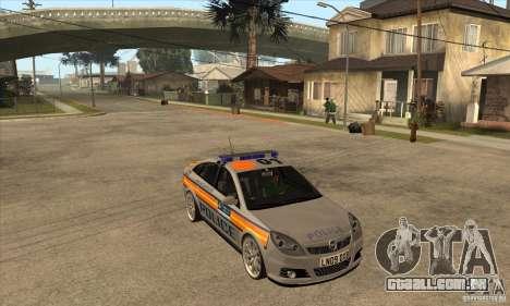 Opel Vectra 2009 Metropolitan Police para GTA San Andreas vista traseira
