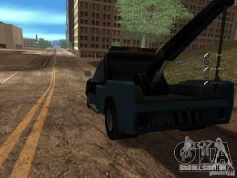 Chevrolet Towtruck para GTA San Andreas traseira esquerda vista